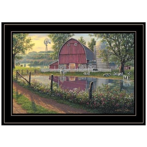 """Barnyard Memories"" By Kim Norlien, Ready to Hang Framed Print, Black Frame"