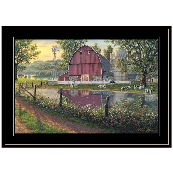"""Barnyard Memories"" By Kim Norlien, Ready to Hang Framed Print, Black Frame. Opens flyout."