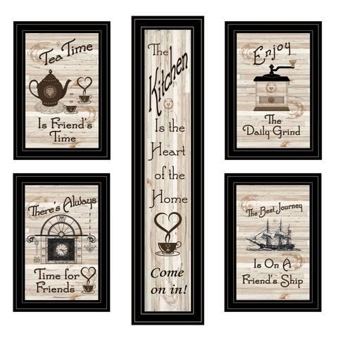 """Kitchen Friendship Collection"" 5-Piece Vignette By Trendy Décor 4U, Black Frame"