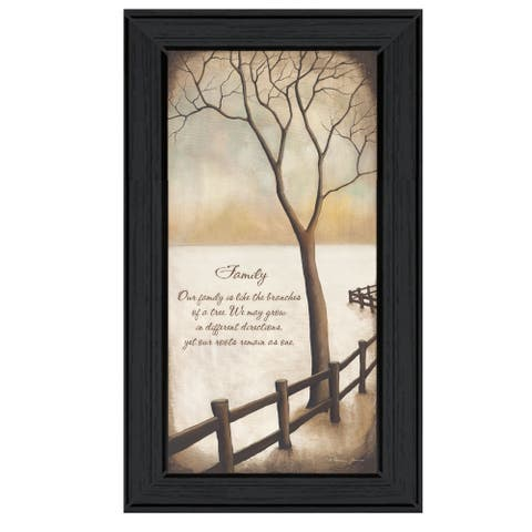 """""""Family"""" By Kendra Baird, Ready to Hang Framed Print, Black Frame"""