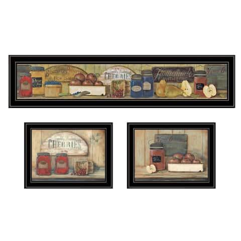 """""""Country Kitchen"""" 3-Piece Vignette By Pam Britton, Black Frame"""