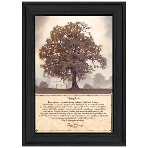 """""""Living Life"""" By Bonnie Mohr, Ready to Hang Framed Print, Black Frame"""