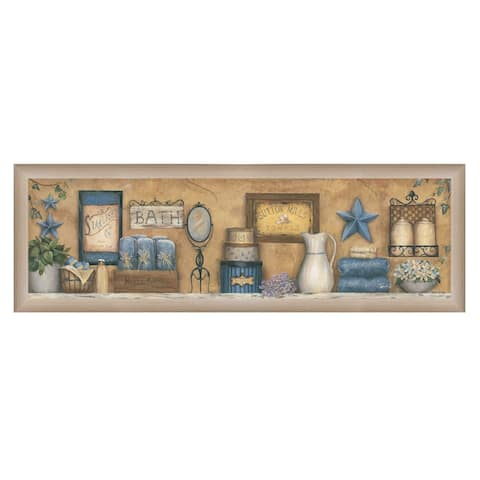 """""""Starlight Bath"""" By Carrie Knoff, Ready to Hang Framed Print, Tan Frame"""