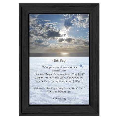 """""""This Day"""" By the s of Trendy Decor 4U, Ready to Hang Framed Print, Black Frame"""