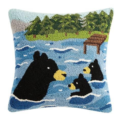 Swimming Bear Hook Pillow