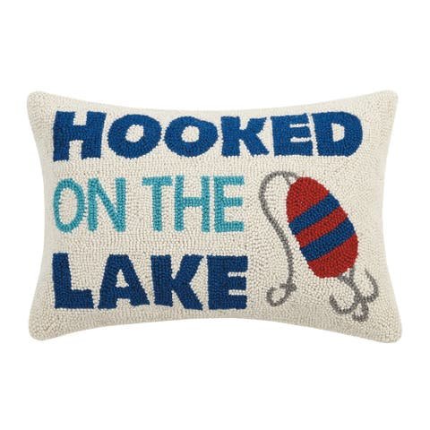 On the Lake Hook Pillow