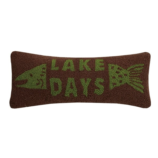 Lake Days Fish Hook Pillow. Opens flyout.