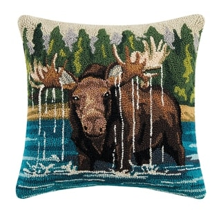 Link to Moose in the Lake Hook Pillow Similar Items in Decorative Accessories