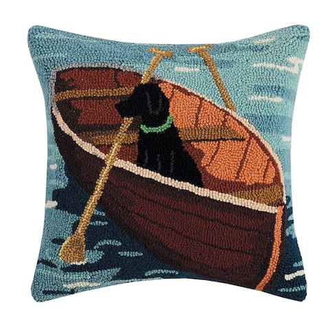 Lab in the Boat Hook Pillow