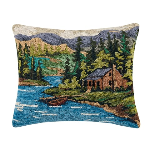 Cabin by Lake Hook Pillow