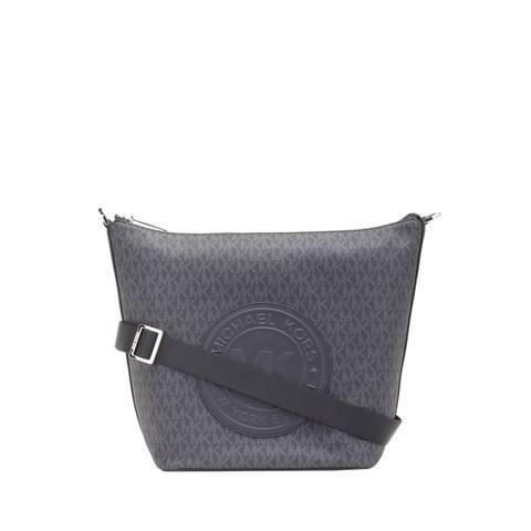 Michael Kors Womens Fulton Large Zip messanger Bucket Bag Black 35F9SF0M3B