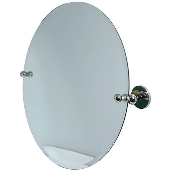 Round Beveled Edge Bathroom Tilt Wall Mirror