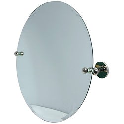 Round Beveled Edge Bathroom Tilt Wall Mirror