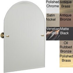 Arch Top Bathroom Tilt Wall Mirror Beveled Edge