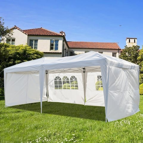 3 x 6m Four Windows Practical Waterproof Folding Tent - 6sides-4windows