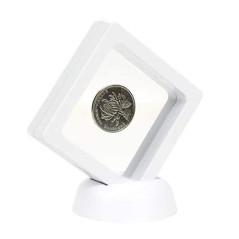 Set of 5 Floating Frame Display Holder Stand for Medallions Coin Badge Specimens