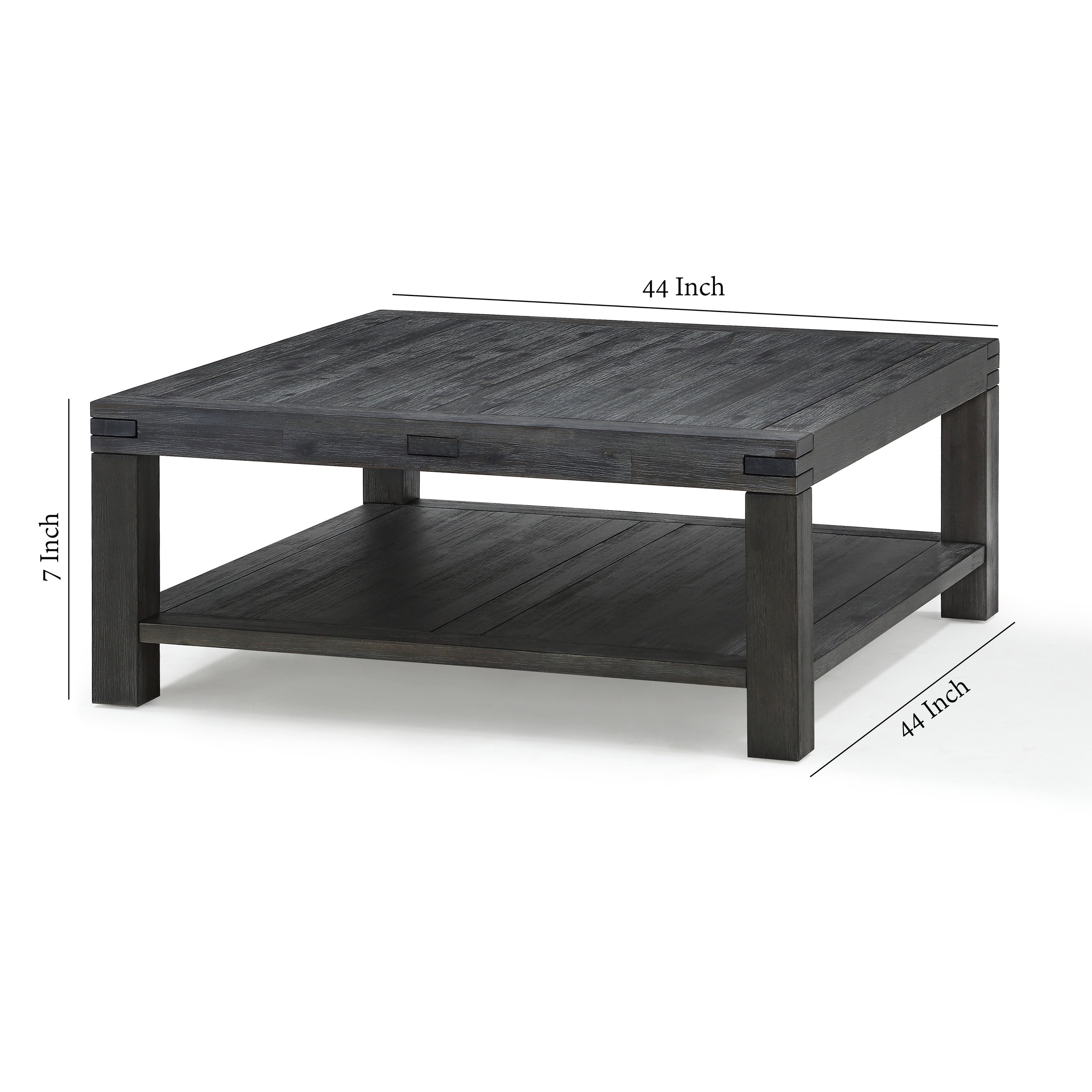 Square Coffee Table With Block