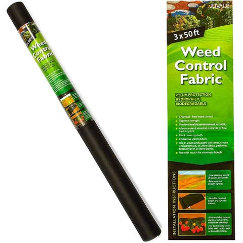 Garden Weed Barrier Landscape Fabric Roll, Hydrophilic, UV Protection, 3 x 50 ft