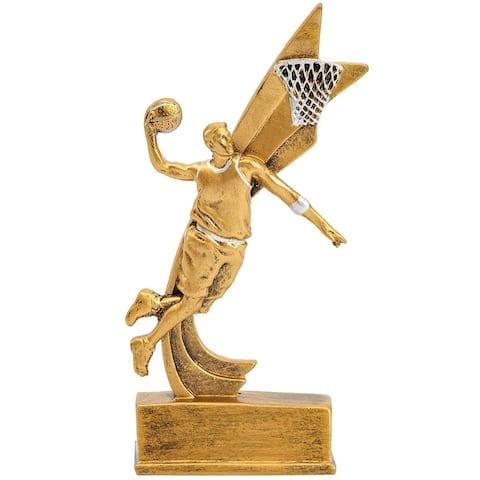 "Men's Basketball Sports Trophy Award 3.5"" x 1.6"" x 8"" for Basketball Tournaments"