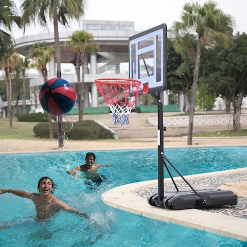 Movable Swimming Pool Basketball Stand For 7# Ball