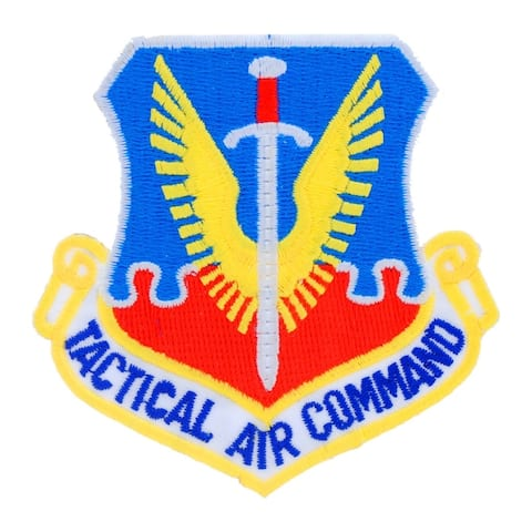US Air Force Tactical Air Command Military Patch - 3 by 2-7/8 inches