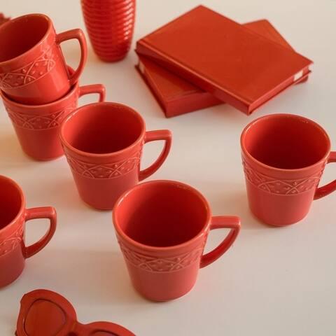 Manhattan Comfort Mendi 6 Mugs (12.17 oz.)