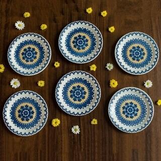"Link to Manhattan Comfort Floreal 12 Medium 7.87"" Salad Plates Similar Items in Dinnerware"