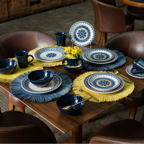 Manhattan Comfort Floreal 16 Piece Dinner Set Service for 4
