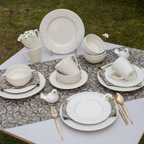 Manhattan Comfort Mendi 32 Piece Dinner Set Service for 8