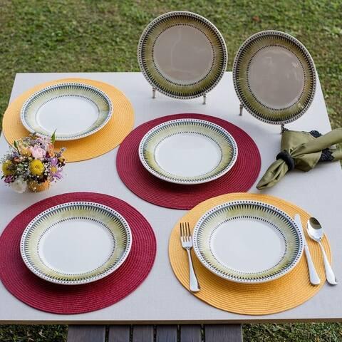 "Manhattan Comfort 6 Large 10.24"" Dinner Plates"