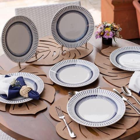 "Manhattan Comfort 12 Large 10.24"" Dinner Plates"