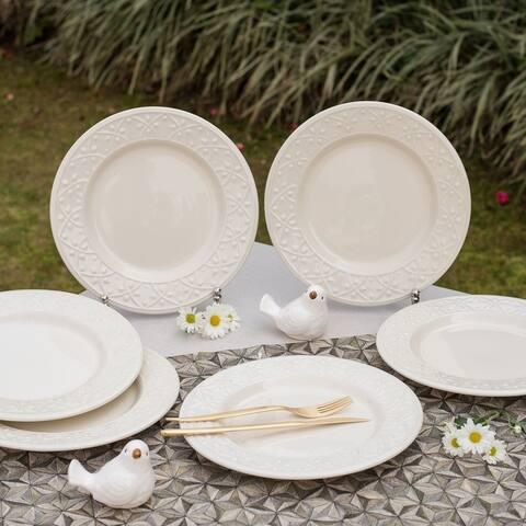 "Manhattan Comfort Mendi 12 Large 10.43"" Dinner Plates"