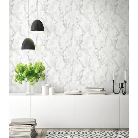 NextWall Faux Marble Peel and Stick Removable Wallpaper - 20.5 in. W x 18 ft. L