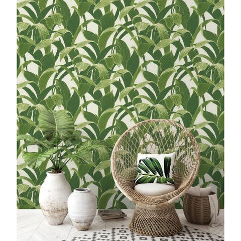 NextWall Banana Groves Botanical Peel and Stick Removable Wallpaper - 20.5 in. W x 18 ft. L