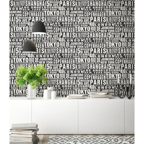 NextWall Around the World Peel and Stick Removable Wallpaper - 20.5 in. W x 18 ft. L