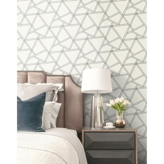 Link to NextWall Railroad Geometric Peel and Stick Removable Wallpaper - 20.5 in. W x 18 ft. L Similar Items in Wall Coverings