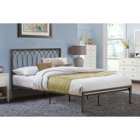 Naomi Complete Metal Bed, Gray