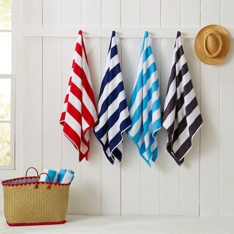 "Diani Collection Terry Cabana 4-Pack Beach Towel - 30"" x 60"""