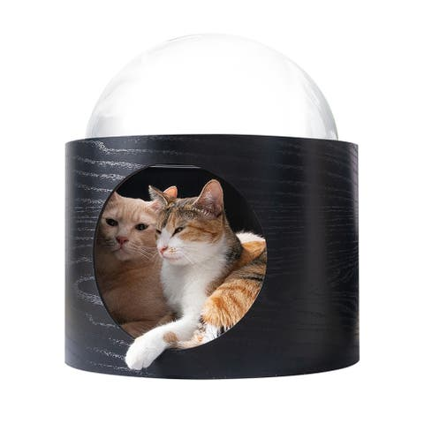 MYZOO-SPACESHIP GAMMA Wall Mounted Cat Bed OPEN RIGHT