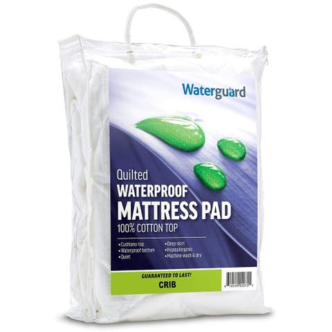 Waterguard Waterproof Quilted Mattress Pad for Crib and Portable Crib
