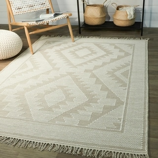 Papilio Isaiah Cotton Geometric Flatweave Handwoven Area Rug