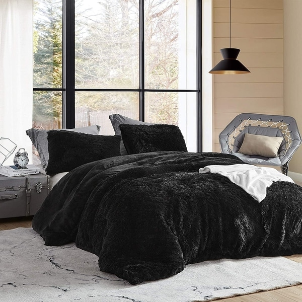 Coma Inducer Oversized Comforter - Are You Kidding? - Black (Shams Not Included). Opens flyout.
