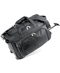 Status Koskin Leather 20-inch Carry On Rolling Duffel Bag - Free ...