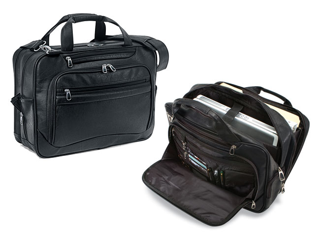 G Pacific Consulate Koskin Leather Laptop Briefcase