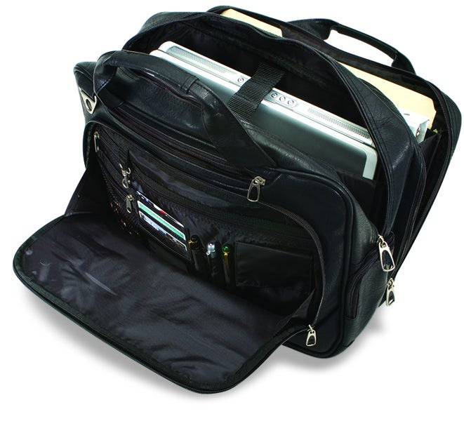 G Pacific Consulate Koskin Leather Laptop Briefcase - Thumbnail 1