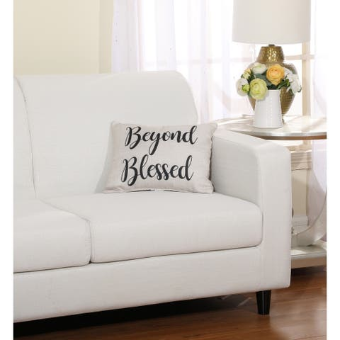 "Grand Avenue Beyond Blessed Decorative Pillow Pair, 12 x 16"" (2-Pack)"