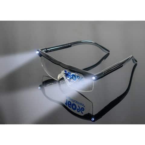 2pc LED Lighted 1.6X Magnifying Glasses - Sight Enhancing Bright Eyewear - USB - Medium