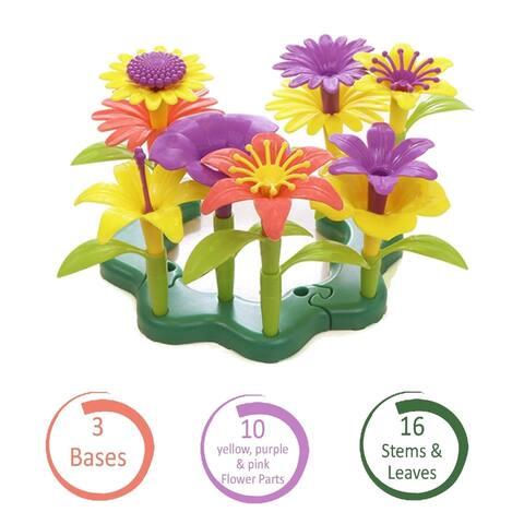 26 Flower Garden Building Blocks Pretend Gardening Floral Bouquet
