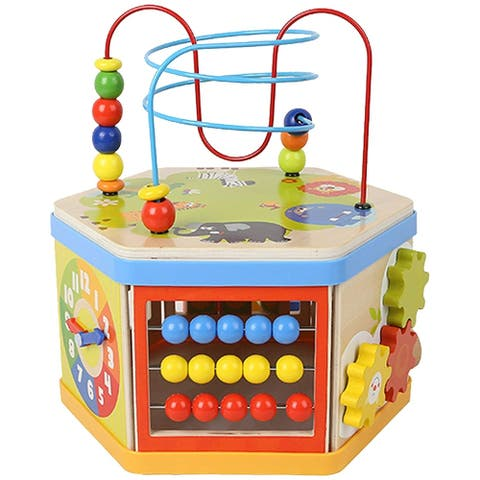 Wooden Activity Cube 7 in 1 Educational Baby Toy