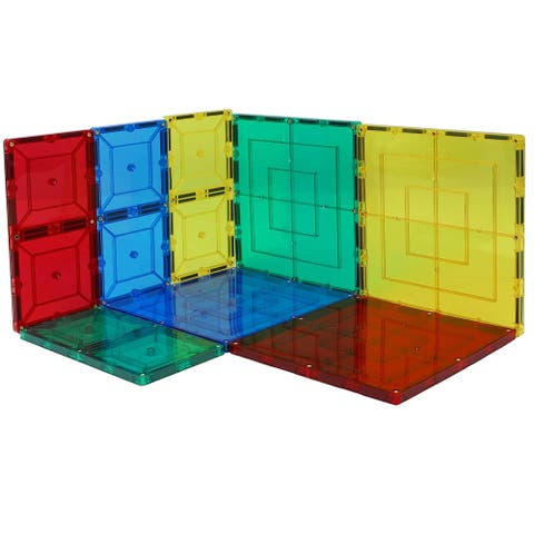 8 Piece Magnetic Tiles, 4 6X6 Large Tiles and 4 6X3 Tiles